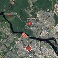 Carte localisant les anciens dépotoirs de la Ville de Trois-Rivières.