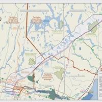 Une carte qui présente le tracé de la future ligne de transmission hydro-électrique.
