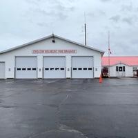 La caserne des pompiers.