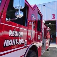 Un camion de pompiers de Mont-Joli.