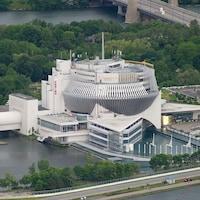 Vue aérienne du Casino de Montréal.