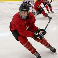 Catherine Dubois a participé au camp d'évaluation de l'équipe senior de Hockey Canada du 8 au 16 septembre dernier en Colombie-Britannique