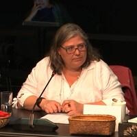 Céline Bellot lors de son témoignage.