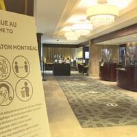 La réception du Centre Sheraton à Montréal.