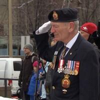 Des soldats lors d'une cérémonie à Ottawa.