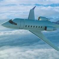 Un avion Challenger 605 de Bombardier.