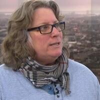 Chantal Racette, présidente du Syndicat des cols bleus regroupés de Montréal.