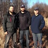 Martin Lanthier, Pascal Lanthier et Sébastien Lupien, les trois chasseurs qui ont fait la découverte des ossements de Cédrika Provencher