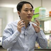 He Jiankui dans son laboratoire.