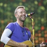 Chris Martin, de Coldplay, en concert au FedEx Field de Landover (Maryland), le 6 août 2017.