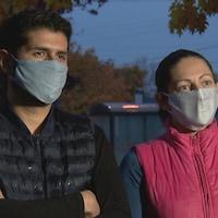 Christian, 35 ans, et sa conjointe Ivonne, 37 ans, sont arrivés au Québec en janvier 2020.