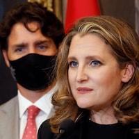 Chrystia Freeland et Justin Trudeau