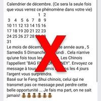 Le texte affirme que le mois de décembre aura cinq samedis, dimanches et lundis, et que ça ne se produit qu'à toutes les 823 années.
