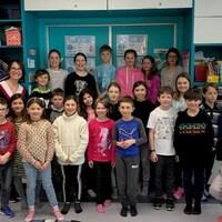 Radio-Canada a rendu visite à la classe de Mme Chantale.