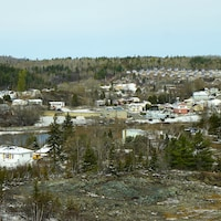 Vue de la petite ville de Cobalt
