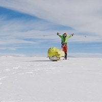 Colin O'Brady de Portland (Oregon), lors d'un voyage en Antarctique le mercredi 26 décembre 2018.