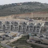 Vue en hauteur des colonies israéliennes.