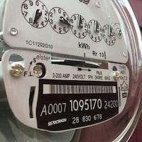 Un compteur d'électricité.