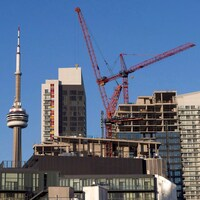 Des grues s'activent au centre-ville de Toronto.