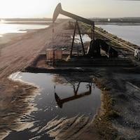 Un puits de pétrole en Californie.