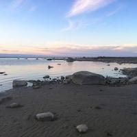 La baie James au coucher du soleil.