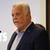 Le chef du Parti libéral du Québec Philippe Couillard