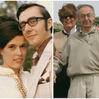 Trois photos de Francine Messier et François Boucher à différentes époques.