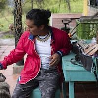 Un musicien autochtone de Colombie.