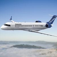 Le nouvel avion CRJ550 de Bombardier.
