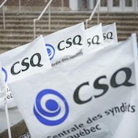 Des affiches de la CSQ