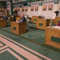 Les chefs des trois principaux partis à Terre-Neuve-et-Labrador ont croisé le fer lors d'un débat télévisé, mercredi soir, le 3 février 2021.