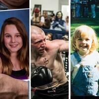 Trois personnes qui sont mortes d'une surdose.