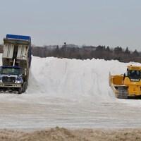 Le dépôt à neige situé sur la route Lagueux, à Saint-Nicolas.