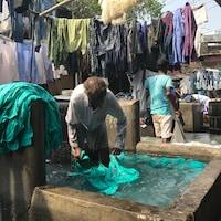 Les Dhobis lavent, essorent, sèchent, repassent et livrent plus d'un million de vêtements par jours, à Mumbai.