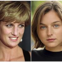un montage photo des deux femmes aux yeux bleus.