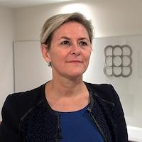 Mme Francoeur accorde une entrevue dans les bureaux de la fédération.