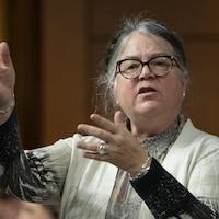 La ministre du Revenu national, Diane Lebouthillier, à la Chambre des communes le lundi 4 février 2019 à Ottawa