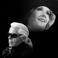 Karl Lagerfeld et Andrée Lachapelle
