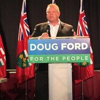 Le chef du Parti progressiste-conservateur de l'Ontario Doug Ford.