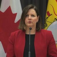 La Dre Jennifer Russell, médecin-hygiéniste en chef du Nouveau-Brunswick, le 31 mars 2020.