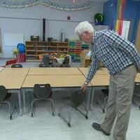 Le mobilier des classes de maternelle est parfaitement adapté aux tout-petits.