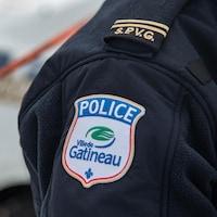 Un policier de la Ville de Gatineau, en hiver
