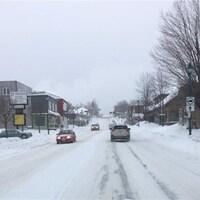 La neige recouvre les routes dans la région d'Edmundston.