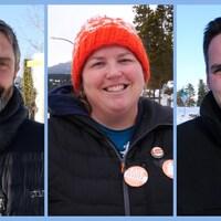 Photomontage des trois chefs.