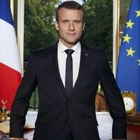 Le portrait officiel d'Emmanuel Macron publié sur le compte Twitter du président français.