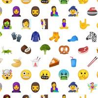 Les nouveaux emojis qui ont été dévoilés aujourd'hui par Unicode.