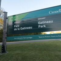 Enseigne du parc de la Gatineau.