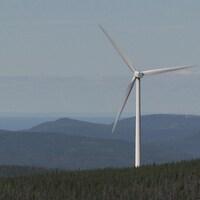 Une éolienne à Cap-Chat