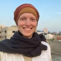 Évelyne Côté-Grenier à Gaza.