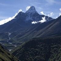 Le mont Everest dans toute sa splendeur.